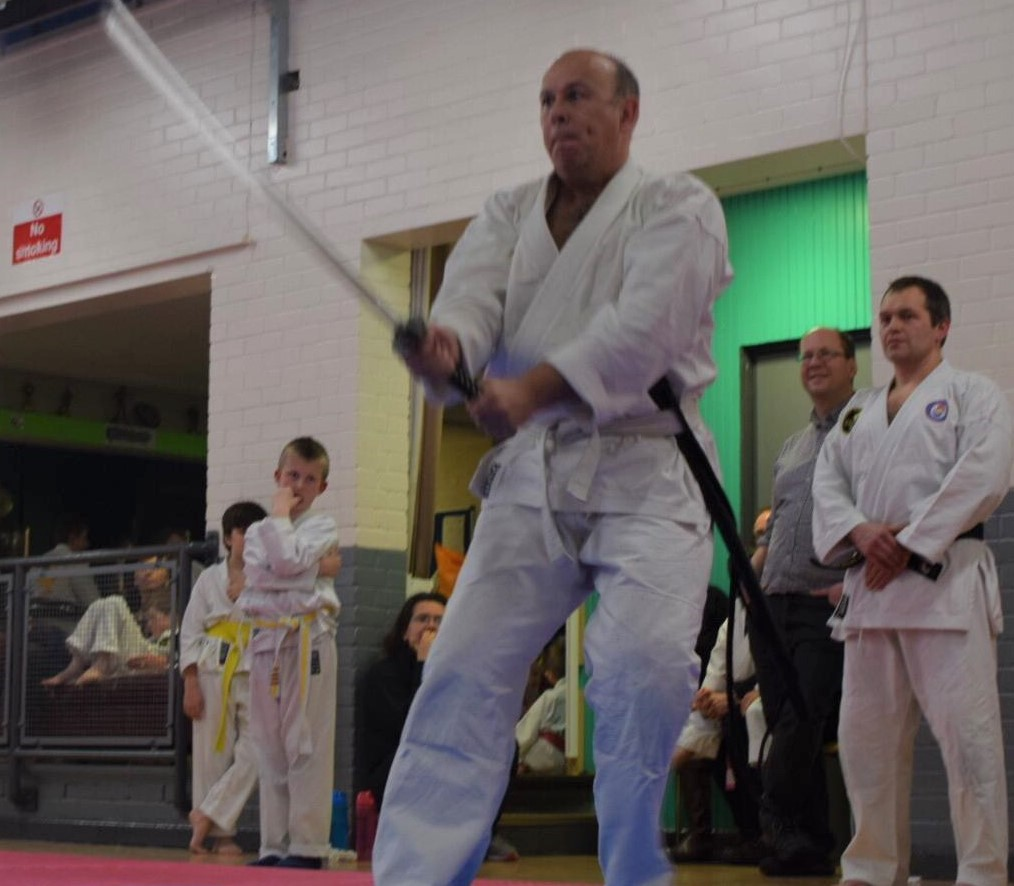 Rob training with katana
