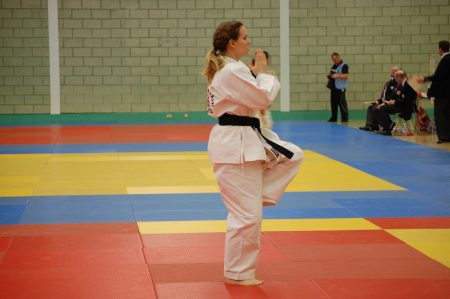Nic competing at kata
