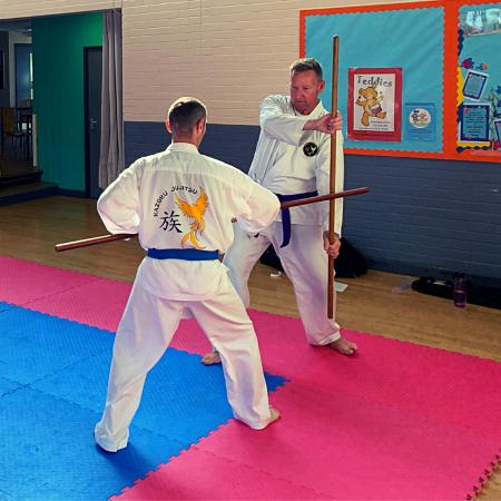 Bojutsu training