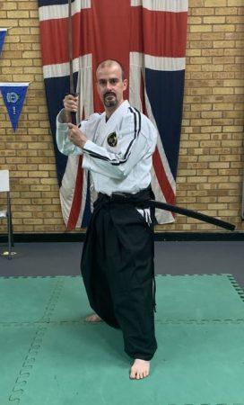 Sensei Dan holding katana